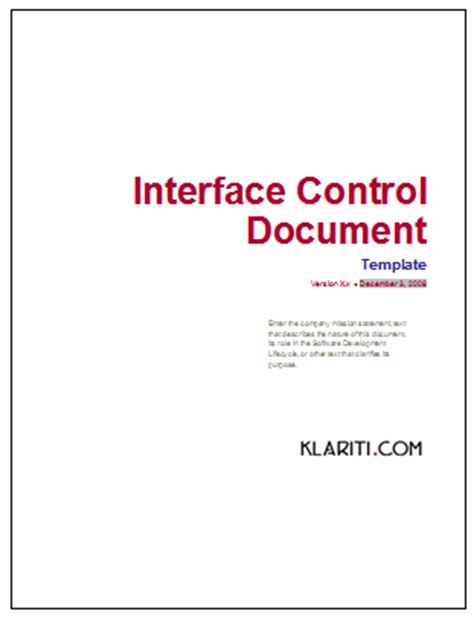 Interface Control Document  Instant Download Forms
