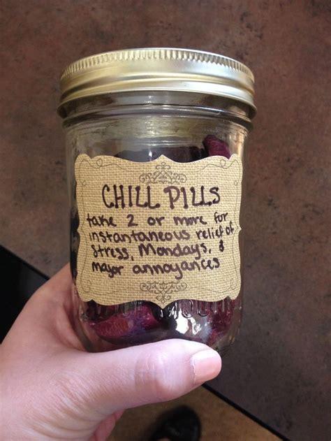 chill pills candy jar    cute gift