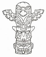 Coloring Totem Pole Worksheets Bestcoloringpagesforkids Via sketch template