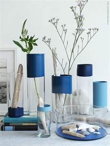 Deko Für Vasen : diy vasen l deko selber machen l maritim l sommer deko diy basteln pinterest diy vase ~ Indierocktalk.com Haus und Dekorationen