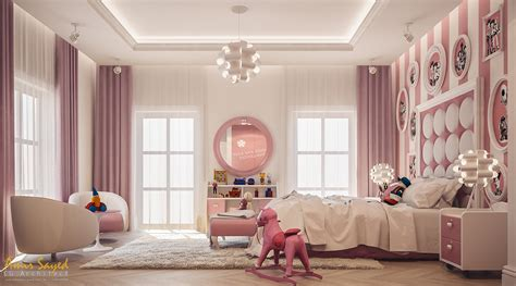 Pink And White Girl's Bedroom Design Idea-digsdigs