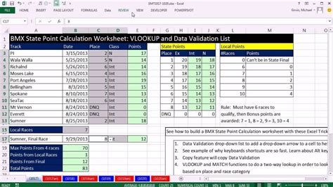 excel magic trick  bmx state point calculation