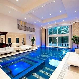 extravagantlifeinc: Indoor pool inside a mansion located ...