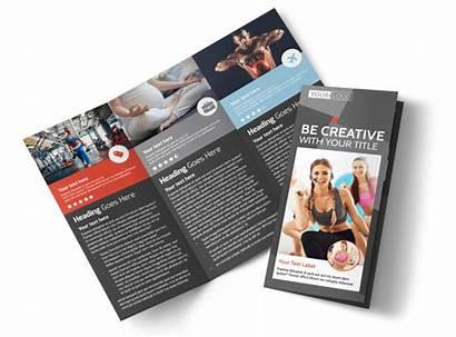 Brochure Fitness Health Club Template Templates Brochures