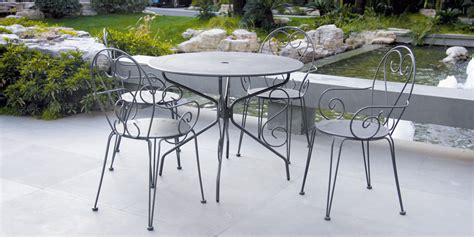 salon de jardin m 233 tal coloris anthracite avec 1 table 4 fauteuils oogarden