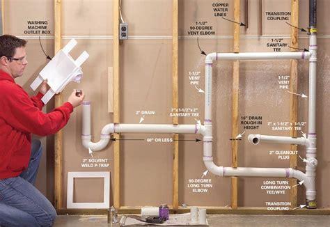 bathtub drain assembly diagram plumbing utility sink and washing machine drain pipe