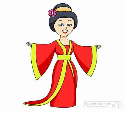 Chinese Clipart Ancient China Clip Lady Robe