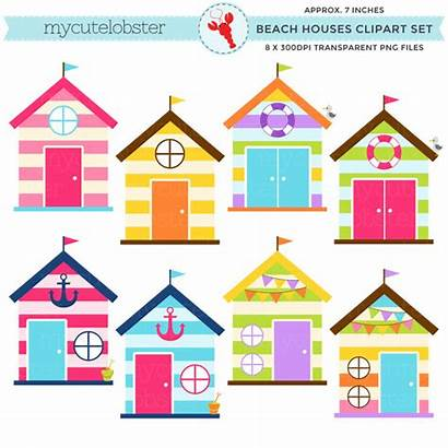 Beach Clipart Hut Clip Houses Huts Summer