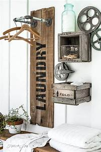 25 best vintage laundry room decor ideas and designs for 2018 With best brand of paint for kitchen cabinets with metal art wall decor sculpture