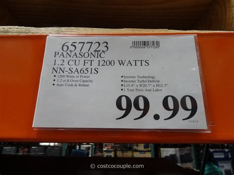 Panasonic 1.2 cu ft Stainless Steel Inverter Microwave Oven