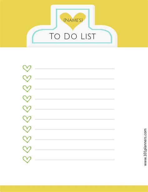 to do lis printable to do list