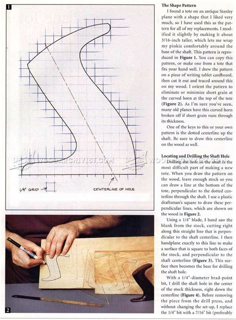 replacing  hand plane tote hand tools tips