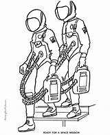 Astronaut Coloring Printable Space Astronauts Printables Clipart Gemini Clip Library Usa Printing sketch template