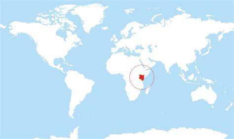 kenya located   world map