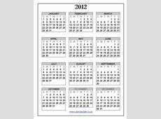 2012 calendar uk calendardatecouk