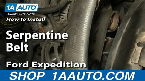 install replace serpentine belt ford