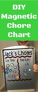 Cute Chore Chart Diy Magnetic Chore Chart Clarks Condensed