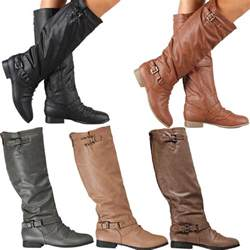 cheap womens boots size 11 wide womens boots knee high fashion slouch faux leather stylish shoes size ebay