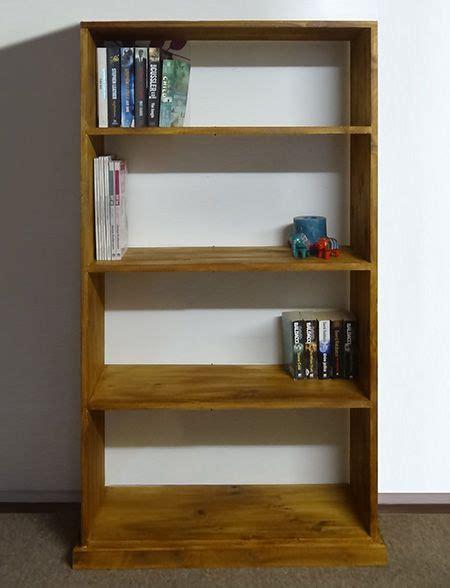 rustic pine bookshelf  easy  assemble