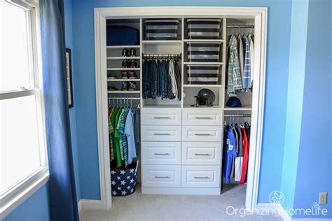Tween Boy's Room Organized Closet Reveal-organizing Homelife