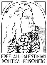 Coloring Prisoners Palestinian Palestine Text Poster Version Translation Interpretation Caption Palestineposterproject sketch template