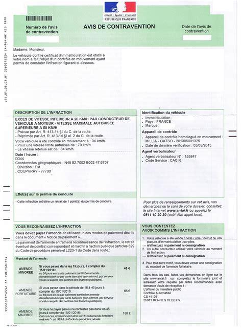 tarif amende excès de vitesse avis vitesse contravention autoplus