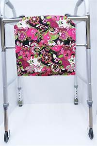 Pink Floral Walker Bag, Walker Caddy, Closet Organizer ...
