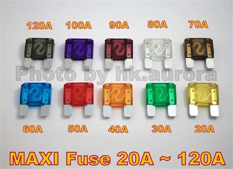 10 X Maxi Fuse Auto Boat Blade 20a 30a 40a 50a 60a 70a 80a