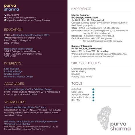 Alternative Resume Exles by An Alternative High Contrast Resume By Purva Sharma Via