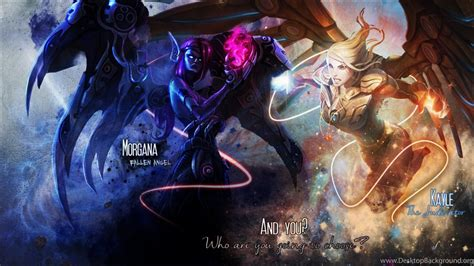 Morgana Kayle Wallpapers League Of Legends By Iskierka0 On