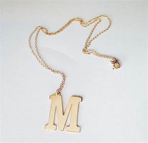 hanging initial necklace melanie marie With hanging letter necklace