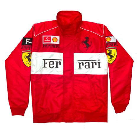 "Follow ferrari, a name inseparable from formula 1 racing, the italian squad being the only team to have competed in every f1 season since the world championship began, winning numerous titles with the likes of ascari, surtees, lauda and schumacher. Vintage Culture ""Ferrari"" Formula F-1 Racing Jackets"