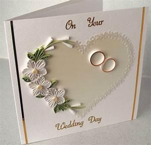Quilled wedding congratulations card