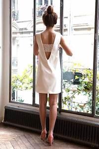 robe mariage civil la ligne blanche l39amusee paris With robe mariage civil hiver