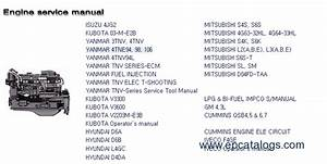 Hyundai Construction Equipment Engines Service Manuals
