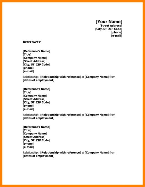 curiculum vitae format references 6 cv reference exles theorynpractice