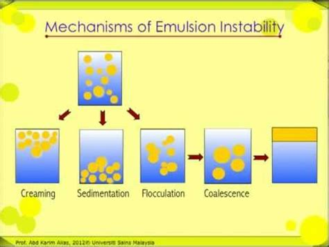 cuisine emulsion mechanisms of food emulsion instability
