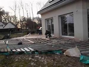 Terrasse Avec Palette : terrasse en palette 1 re partie youtube ~ Melissatoandfro.com Idées de Décoration
