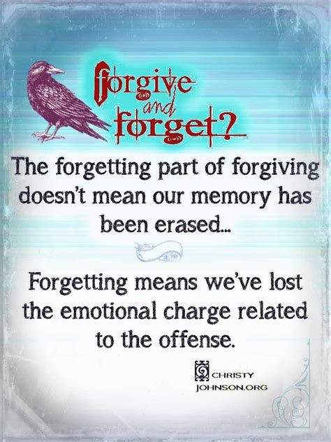 Forgive And Forget Christy Johnson