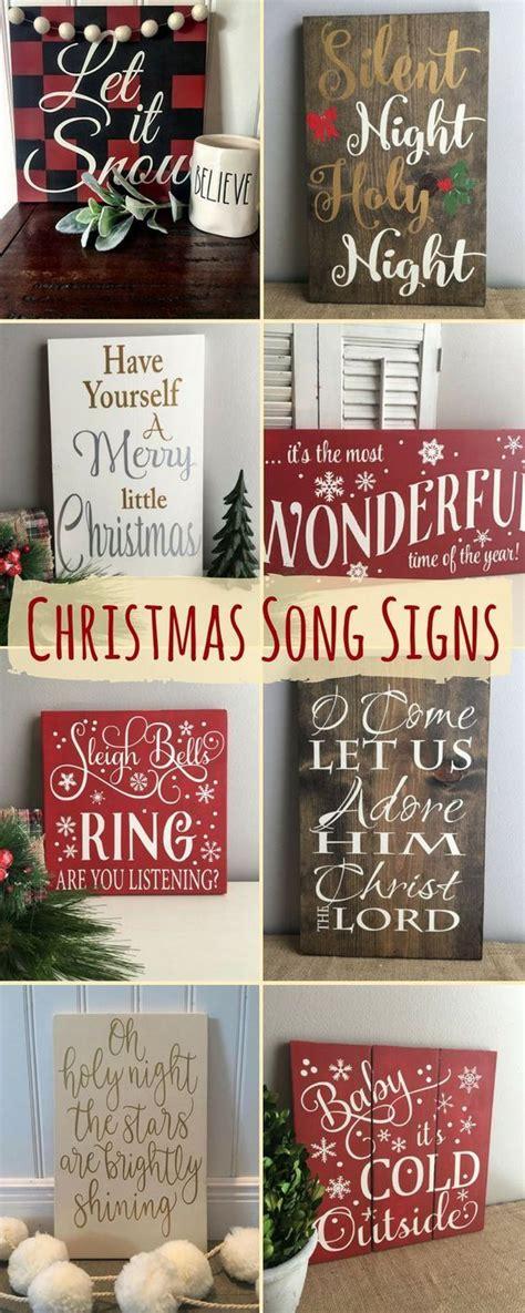 christmas song signs home decor christmas wood