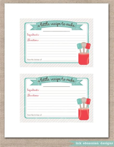 cr gibson recipe card template 17 best images about printable recipe card on