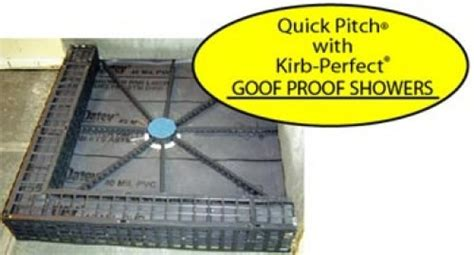 pitch shower kit pre pitch pre made shower floor drainage slope kit