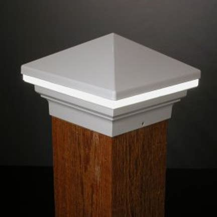 6x6 Lighted Deck Post Caps by Iris Led Low Voltage Deck Light 6x6 Wood Posts