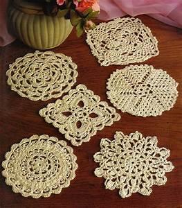 6 Lacy Little Doilies   Doily  Crochet Pattern Instructions