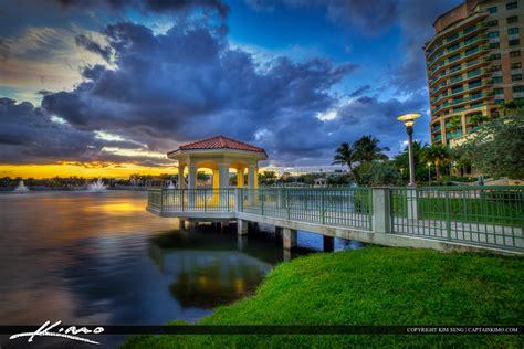palm gardens sunset downtown lake