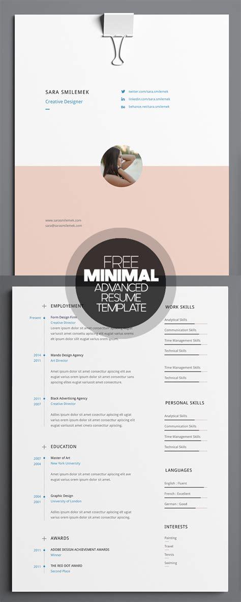 clean modern cv resume templates psd