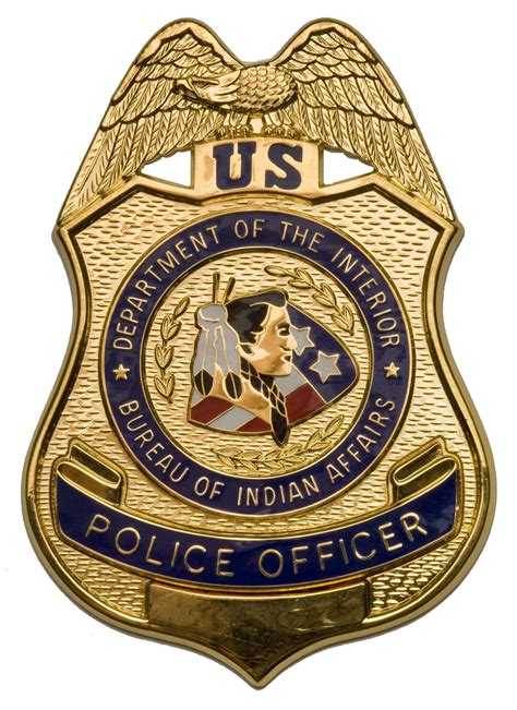 federal bureau of indian affairs file bia officer badge jpg wikimedia commons