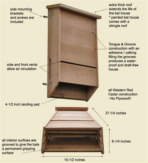 triple chambered bat house plans woodworking projects
