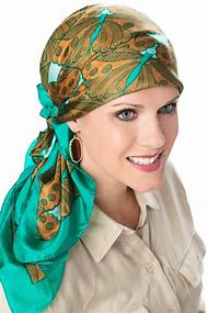 Square Silk Head Scarves for Women