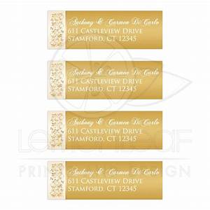 address labels ivory and gold floral With ivory mailing labels